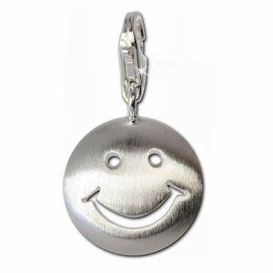 SilberDream Charm Schmuck Armband Anhänger Smiley 925 Echt Silber FC3111