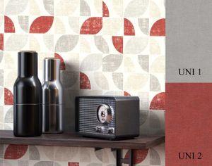 Tapete  Rot   Retro Tapete der 70er Grafisch Grafik   Oashi Muster