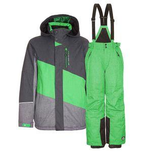Kinderskianzug Jacke + Hose Gr. 164 - grün grau - Gr. 164 | Grau