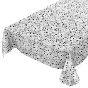 Tischdecke abwaschbar Wachstuch Granit Grau 140x100 cm