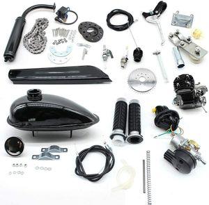 2-Takt Fahrradmotor 80CC Moteur Motorisierte Fahrräder Benzin Hilfsmotor Kit CDI Luftkühlung Elektrofahrrad-Umbau-Set, Maximale Geschwindigkeit 38KM/H, für E-Fahrrad Mountainbikes Rennräder