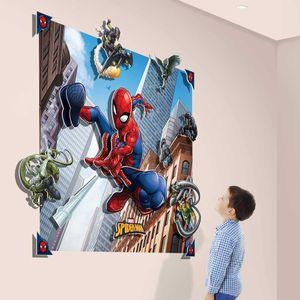 Walltastic 44586 - 3-D Wandbilder, Spiderman