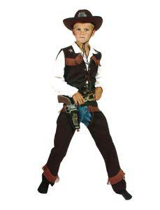 Western Kinder Kostüm Braun 128