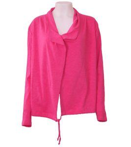 katestorm Sweat-Jacke knallige Damen Frühlings-Jacke Pink, Größe:L