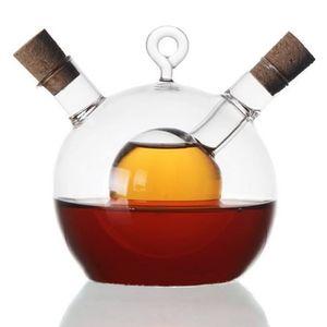 Ölspender: 2in1-Essig- und Öl-Spender aus Glas (Öl Flasche)