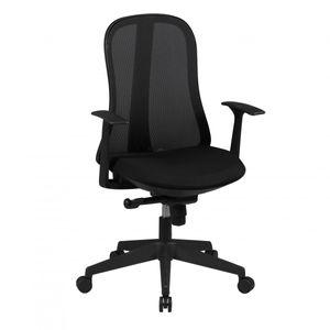 AMSTYLE Bürostuhl STYLE Stoffbezug Schwarz Schreibtischstuhl Design Chefsessel Drehstuhl Synchronmechanik & Armlehne