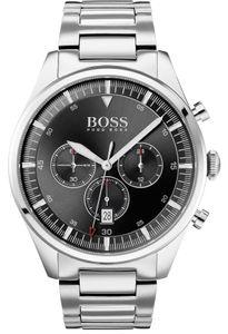 Hugo Boss Herren Chronograph Pioneer Armbanduhr 1513712 - Edelstahl/Silber/Schwarz