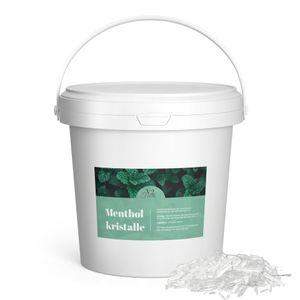 Mentholkristalle Sauna Kristalle im praktischem Eimer - Lebensmittelqualität - 100% reines Minzöl 200 Gramm