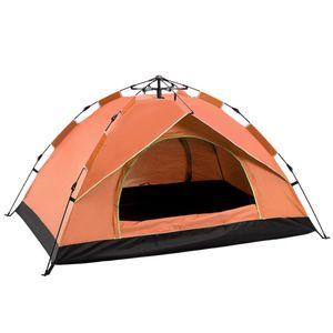 2 Personen Outdoor Camping Zelt Outdoor Klettern Campingzelte 200x150x130 cm, Orange