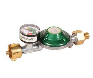 GARDINGER Druckregler 30 mbar integrierte Schlauchbruchsicherung mit Druckknopf