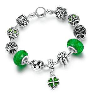 Bettelarmband Beads-Armband Schmuck-Armband Beads Anhänger versilbert Autiga®  18 cm