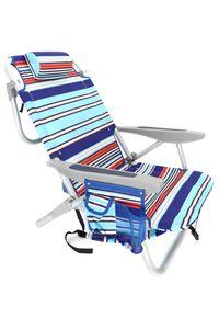 Strandstuhl Sonnenliege verstellbar, klappbar als Rucksack, Kühltasche, Getränkehalter, Netzfach 63*77*54cm
