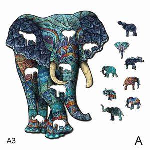 Elefanten (A) A3 $ verpackt weißes Holz-Puzzle Geschenk erwachsene Kinder