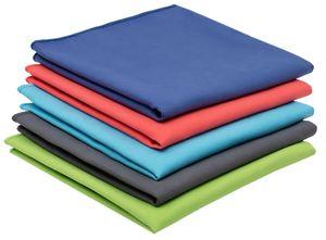 5er Set Mikrofasertücher Reinigungstücher, 40x80 cm, grün, blau, türkis, rot, grau