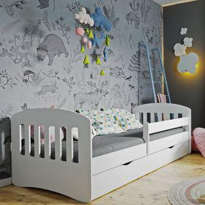 Selsey Kinderbett PAMMA Funktionsbett in Weiß mit Matratze und Schublade, 80x180cm