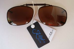 GKA Sonnenbrille Clip Brillenaufsatz für Brillenträger Clip On Metall kupfer braun Sonnenbrillenclip Sonnenbrillenaufsatz