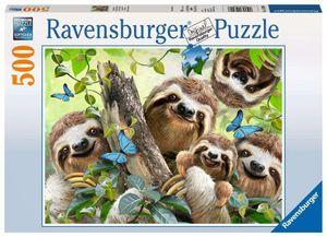 500 Teile Ravensburger Puzzle Faultier Selfie 14790
