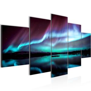 Polarlicht BILD :200x100 cm − FOTOGRAFIE AUF VLIES LEINWANDBILD XXL DEKORATION WANDBILDER MODERN KUNSTDRUCK MEHRTEILIG 609151b