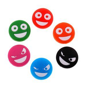 Smile Face Funny Tennisschläger Vibrationsdämpfer, Packung à 6 Stü