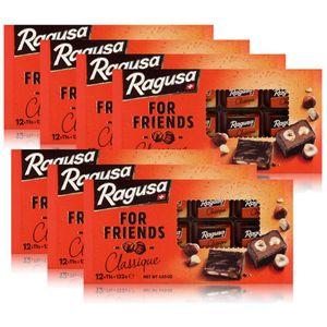 Ragusa for Friends Classique - Schokolade mit Praliné-Füllung 132g (7er Pack)