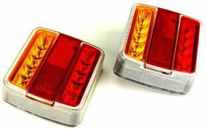 2 x 12V LED Anhänger Rücklicht Rückleuchten Licht Leuchte Anhängerbeleuchtung