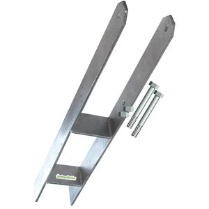 2-er Set H-Anker 11 cm, Betonanker mit 4 Schrauben 10x130 mm