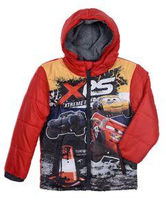 Disney Cars Kinder Kapuzen-Daunenjacke mit Motiv, rot, Größe:104