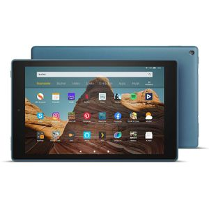 Amazon Fire HD 10 Schwarz, Hands-  Free with Alexa,  10' Full-HD Display, 32 GB /2GB /1,8GHz Quad Core / Black - with  Special Offers, Farbe:Dunkelblau