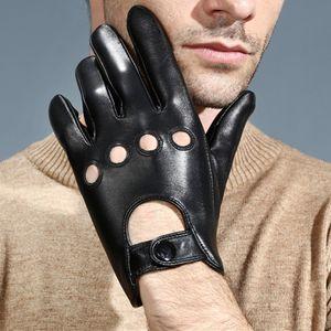 Vintage Lederfahrhandschuhe für Männer gefütterte Screen Drive Gosling XL Schwarz Fahrhandschuhe