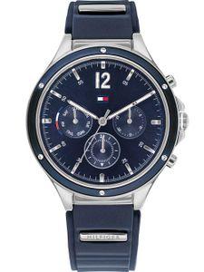 Tommy Hilfiger Damen Multi Zifferblatt Blau/Blau Silikon Armbanduhr | 1782281