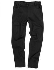 Arbeitshose Super Stretch Slim Chino - Farbe: Black - Größe: XXL