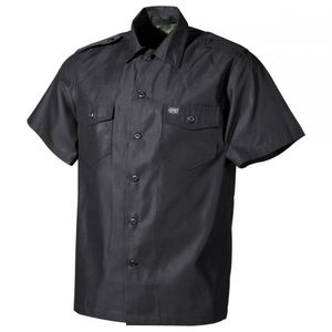 US Hemd, kurzarm, schwarz - XL