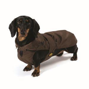 Fashion Dog Hundemantel speziell für Dackel - Braun 36 cm