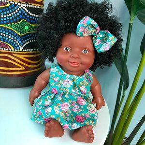 Baby bewegliche gemeinsame afrikanische Puppe Spielzeug schwarze Puppe beste Geschenk Spielzeug Weihnachtsgeschenk