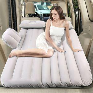 Aufblasbar Luftmatratze Isomatte Campingmatratze für Auto SUV mit Luftpum + 2x Aufblasbare Kissen PVC bis 150KG Sanft Komfortabel