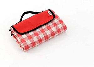 Picknickdecke, Faltbare Picknickdecke wasserdichte Unterlage Camping Outdoor Beach Festival Teppichmatte 195 x 145 cm rot