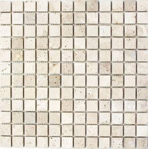 Mosaik Fliese Travertin Naturstein beige Chiaro Antique Travertin MOS43-46023