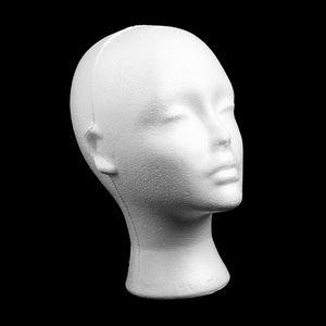 Schaufensterpuppe Mannequin kopf Modell weiblicher Schaum Aussteller für Kappen Kopfhörer Haar-Perücken Frau