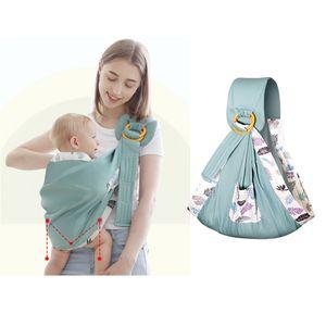 Neugeborenen Baby Träger Atmungs Wrap Sling Rucksack 2020 Update Grün 175cm Einfach Babytrage
