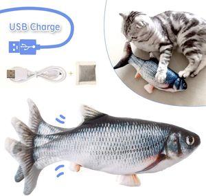 Katzenspielzeug Fisch, Katzenminze elektrische Puppe Fisch, Simulation Elektrisch Spielzeug Fisch mit USB Charge, Interaktives Spielzeug für Haustiere