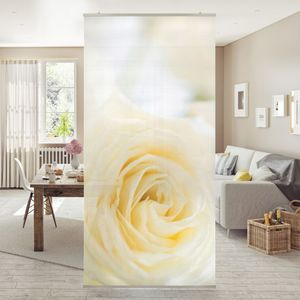 Raumteiler - White Rose 250x120cm, Aufhängung:ohne Halterung