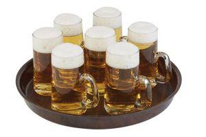 Bierglasträger Serviertablett aus Pressholzlaminat Antirutschfläche ØxH: 35,5 x 3,5 cm