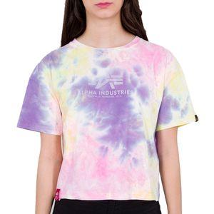 Alpha Industries Damen Basic T-Shirt Batik COS Wmn purple batik M
