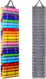 Rollenhalter Vinyl Aufbewahrungsregal 48 Löcher Hängender Organizer Wandhalterung für Plotterfolie, Textilfolien, Basteln Plotten, Bastelfolie (Grau)