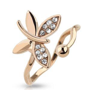 Fingerspitzenring Midi Knöchel Ring Nagelring Obergelenkring Schmetterling gold rosegold