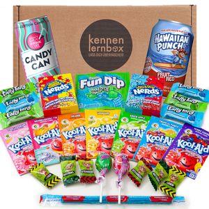 USA Kool Box | Kennenlernbox mit 27 beliebten amerikanische Süßigkeiten | Geschenkidee für besondere Anlässe wie Geburtstage