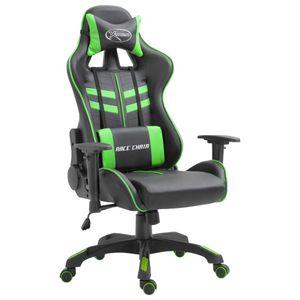 Bürostuhl Drehstuhl Schreibtischstuhl Gaming-Stuhl Grün Kunstleder