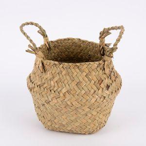 Creativ Company Korb aus Seegras mit Henkeln rund natur 16x15cm