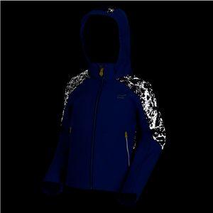 Regatta Astrox II Softshelljacke Jungen mit Kapuze und reflektierenden Stoff, Farbe:Blau, Kinder Größen:128