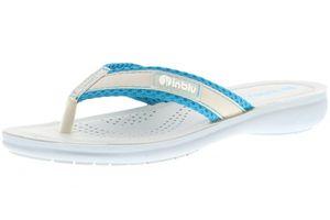 inblu Damen Zehentrenner Badeschuhe Slipper hellblau/grau, Größe:39, Farbe:Blau